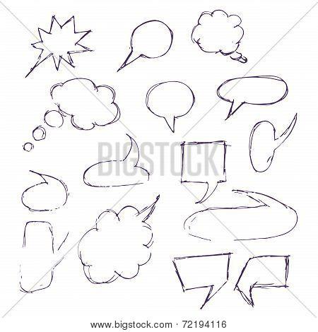 Sketch Hand Drawn Bubble Speech