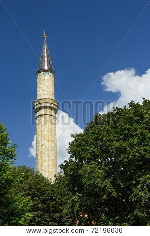 Minaret In Istanbul Against The Sky