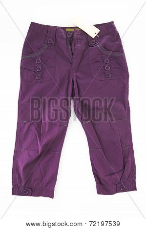 Fashionable Trousers Pants Isolated