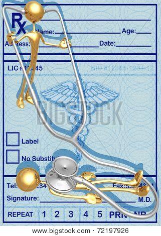 3D Stethoscope Patient Check Up Concept