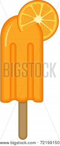 Orange Ice Cream Stick