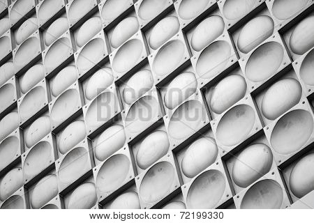 Abstract Background Texture, Gray Metal Wall With Tiling Pattern