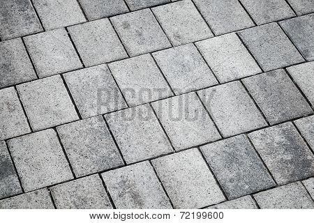 Gray Concrete Tiling, Urban Pavement, Background Texture