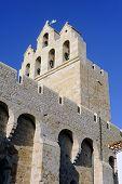 stock photo of patron  - Steeple of the church of Saintes - JPG