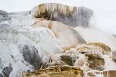 picture of mammoth  - beautiful mineral deposits in mammoth hot springs yellowstone national park - JPG