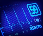stock photo of ekg  - ECG alarm on the medical monitor set - JPG