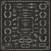 foto of divider  - Vintage Hand Drawn Doodle Design Elements - JPG