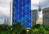 image of petronas towers  - View of the Kuala Lumpur - JPG