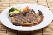 foto of t-bone steak  - grilled t - JPG