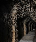 stock photo of crusader  - Tunnel of Al Karak - JPG