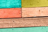 picture of red siding  - Wood plank colorful texture background  - JPG