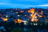 image of poitiers  - Cityscape of Poitiers at a summer night - JPG