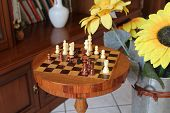 image of draught-board  - A small game in my house over a nice table - JPG