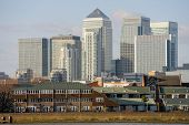 Canary Wharf, The Other Financial Business District In London, England, Uk, Europe poster