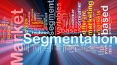 pic of homogeneous  - Background concept wordcloud illustration of business market segmentation glowing light - JPG