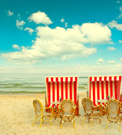 image of sult  - beach cafe on the Baltic Sea - JPG