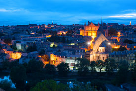 foto of poitiers  - Cityscape of Poitiers at a summer night - JPG