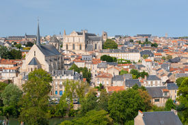 picture of poitiers  - Cityscape of Poitiers at a summer day - JPG