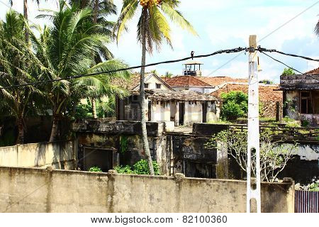 Destroyed building in Galle Fort