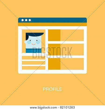 Concept Of Social Media Personal Profile