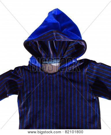 black and blue hoodie