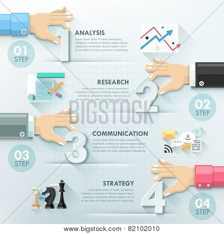 Modern infographic option template
