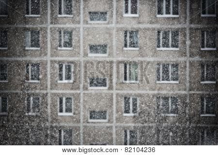 Snowfall In A Big City