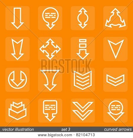 Signs directions. Vector