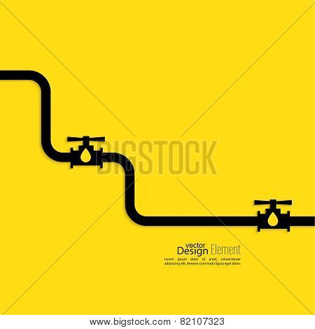 Piping with shutoff valve.