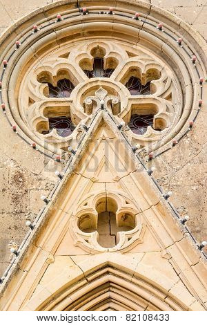 Architectural detail of Lourdes Church
