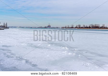 Detroit River Frozen