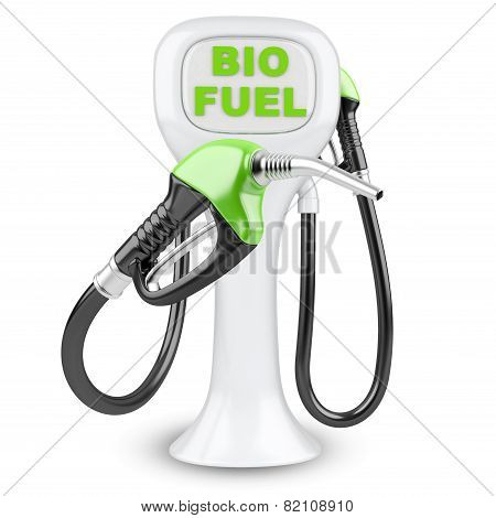 Bio Fuel Concept With Petrol Pump Machine.