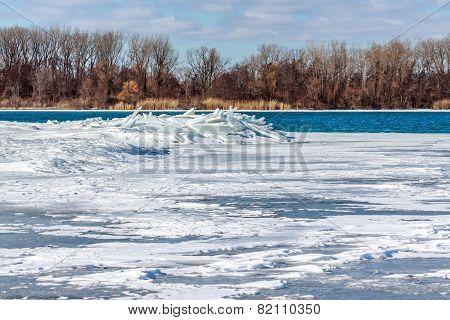 Ice Piled on Detroit River
