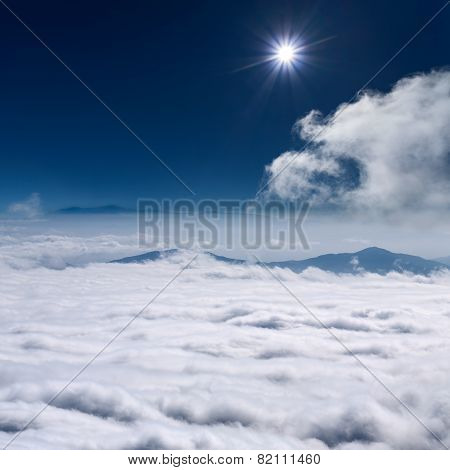 Sky Above Clouds At Suny Day