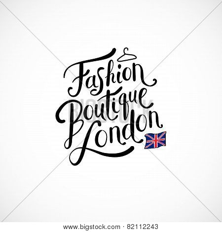 Fashion Boutique London Concept on White