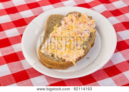 Pimento Cheese Sandwich On Rye Bread