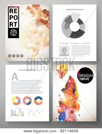 Creative modern template for an corporate report