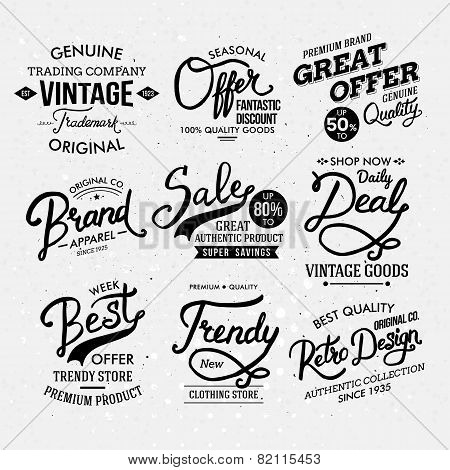 Black and White Artistic Fashion Labels