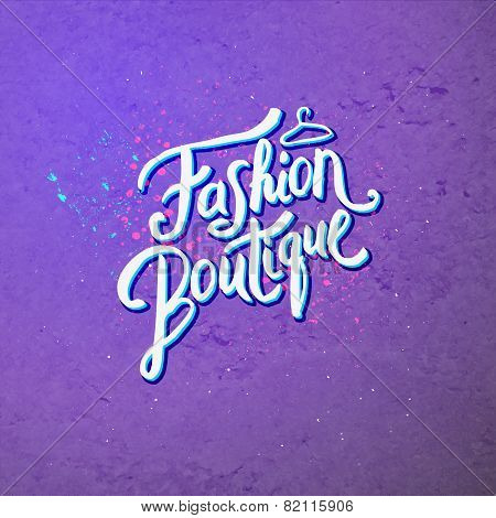Fashion Boutique Concept on Abstract Violet