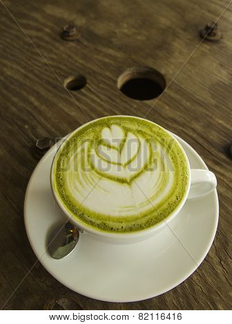Green tea Latte art