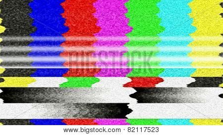 TV Color Bars Malfunction