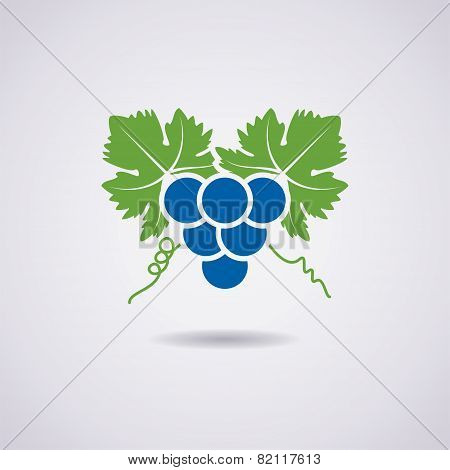Vector Icon Of Grapes