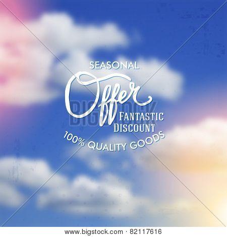 Seasonal Sale discount poster vector design