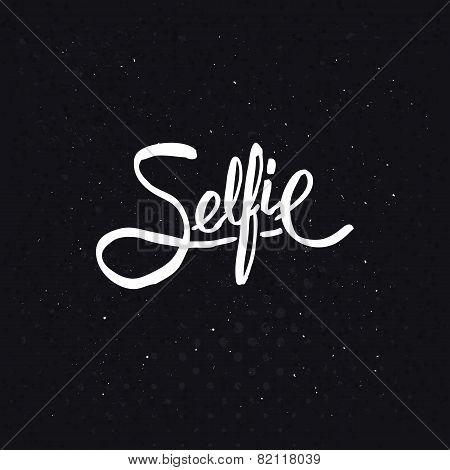 Simple Text Design for Selfie Concept