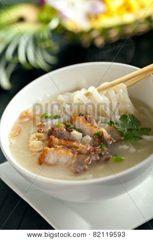 Thai Soup with Pork