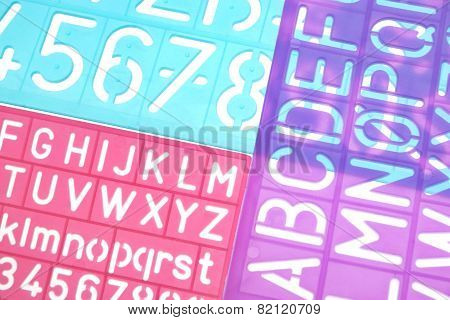 English Letters Plastic Stencils Alphabet