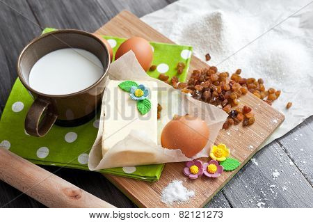 Ingredients for Easter cake