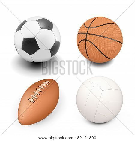 Set Of Sport Ball