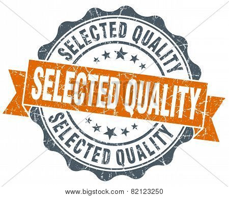 Selected Quality Vintage Orange Seal Isolated On White