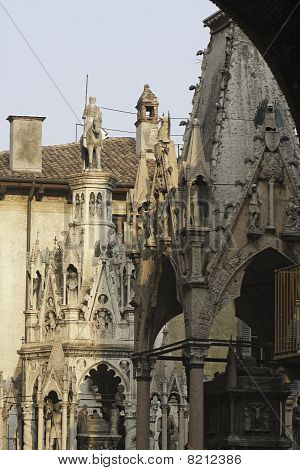 The Scaliger Tombs in Verona